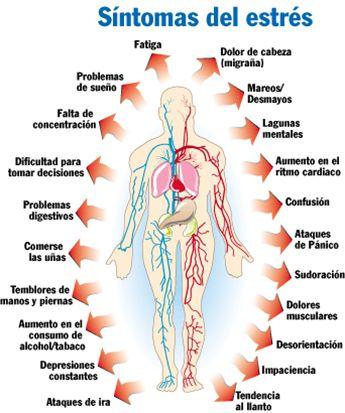 El estrés es una sensación normal que, en bajas dosis, puede ayudarte a hacer las cosas. El estrés no afecta a todo mundo de la misma manera.  Muchas personas sienten síntomas de estrés en el cuerpo. Puedes experimentar dolor abdominal, dolores de cabeza y dolor o tensión muscular.