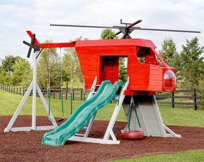 Amish Made Purple Helicopter Playground Set