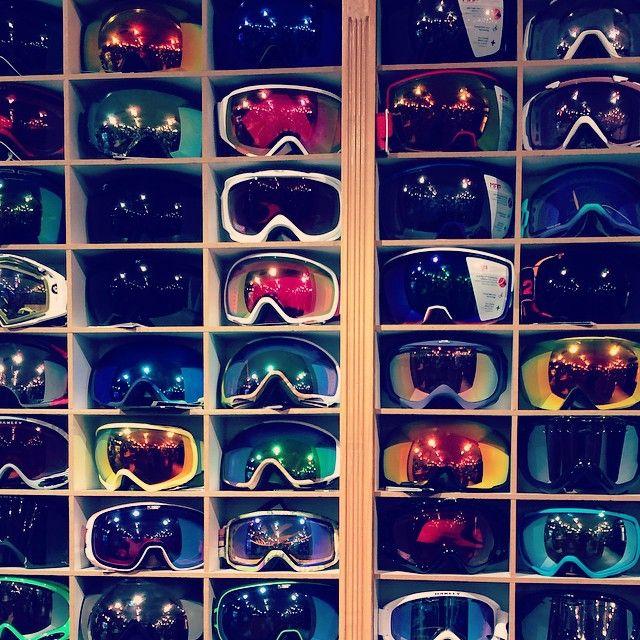 'Tis the season for ski goggles! #skistyle #snowstyle #smithoptics #oakley #scott #giro #poc #anon