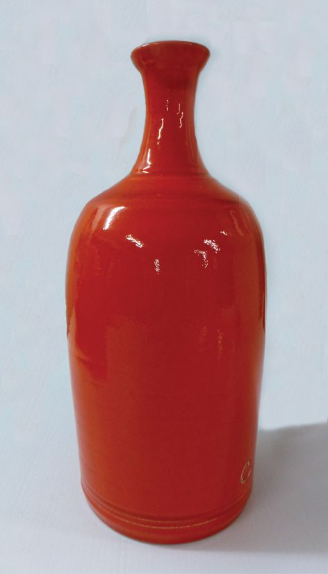 Bottle glazed in in Opals by Ian and Jesse Foote - Morris & James