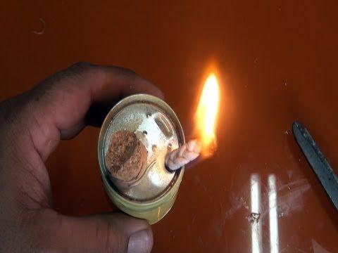 Lámpara de alcohol para emergencias - YouTube