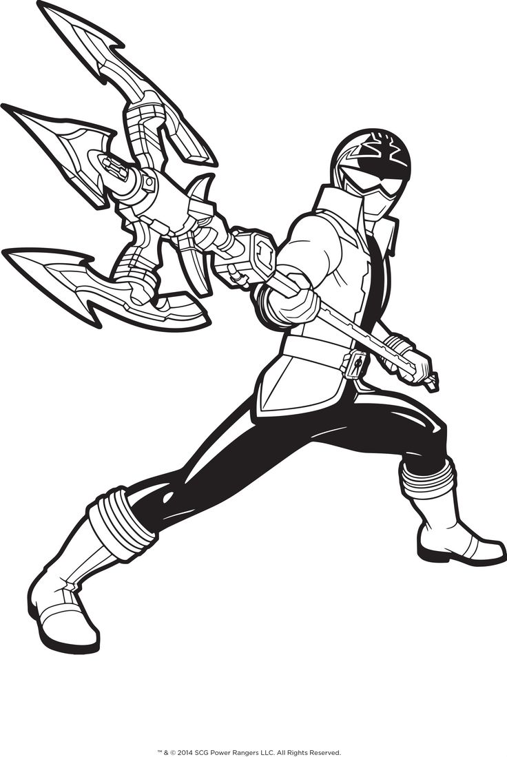 pirate power rangers coloring pages - photo#2