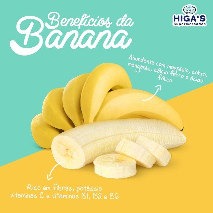 A banana é uma das frutas mais populares no mundo, ela é nutritiva, contém fibras e antioxidantes.  É uma fruta rica em fibras, potássio, vitaminas C e vitaminas B1, B2, B6, além dos minerais como magnésio, cobre, manganês, cálcio, ferro e ácido fólico.  A banana também contém compostos antioxidantes como a dopamina e catequina. A banana contém triptofano que atua na produção de serotonina, que ajuda a relaxar e manter o bom humor.