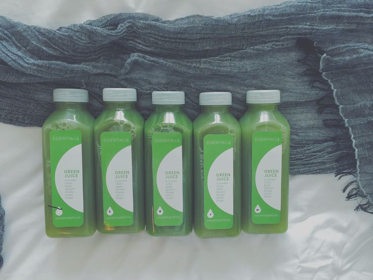 A day of green juices, what could be better?