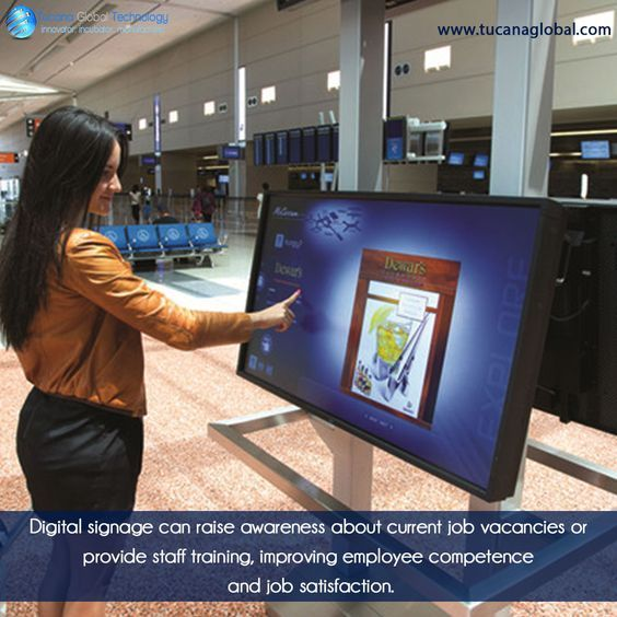 #Digitalsignage can raise #awareness about #current job #vacancies or provide #staff #training, improving #employee#competence and job #satisfaction. ‪#‎TucanaGlobalTechnology‬ ‪#‎Manufacturer‬ #HongKong