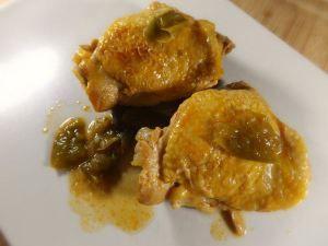 Poulet poivron et huile citron sans gluten