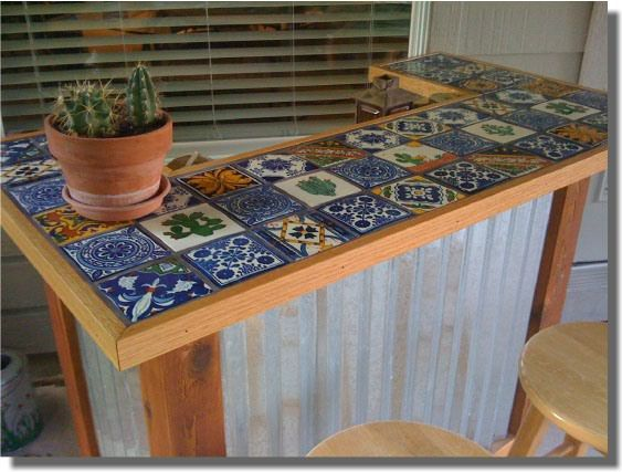 Patio Bar. Pinning only for the tile top