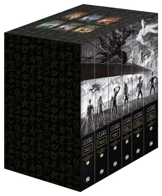 """Box """"Os Instrumentos Mortais"""" com novas capas versão brasileira."""