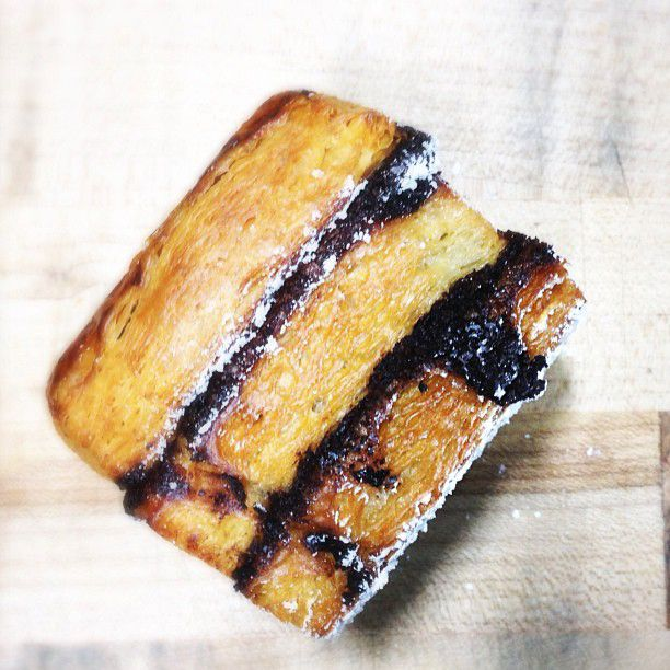 New favorite dish added from Contributing Chef Rebecca Masson. #Chocolate #croissant #stack from Craftsman and Wolves. #sugar #sweets #pastry #butter #layered #flaky #powderedsugar #sweettooth #snack #bakery #SF #chefsfeed