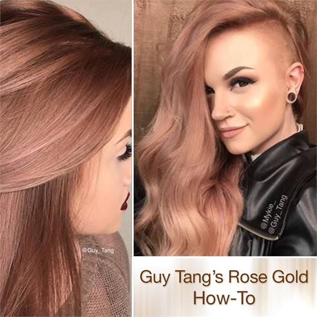 Rich, Rose Gold Haircolor by Guy Tang - Hair Color - Modern Salon