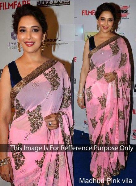 Designer Madhuri Dixit Saree In Pink Shop At