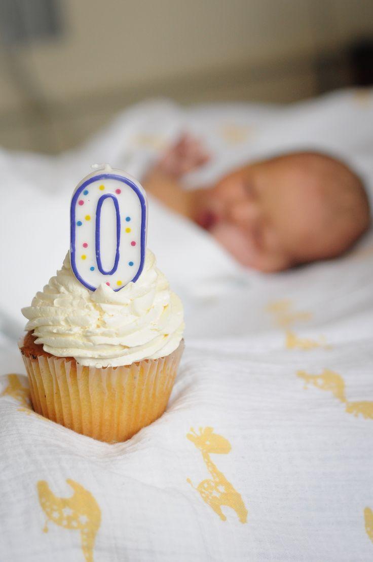0 Birthday Cupcake - Hospital Shot