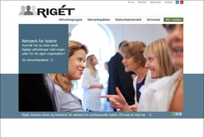 Zoom created a clear, appealing and compelling website for business network leaders Rigét