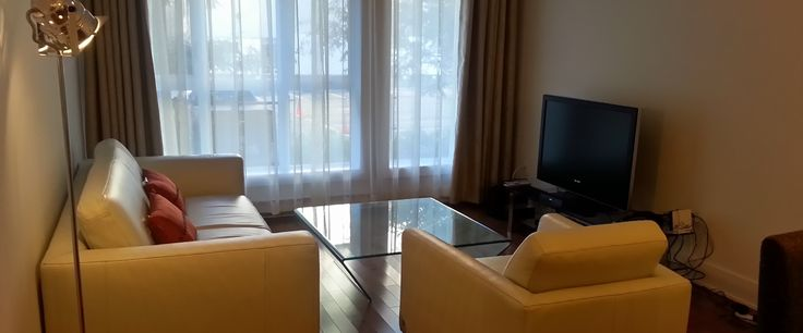 Montreal Rental Condo Downtown Living Room