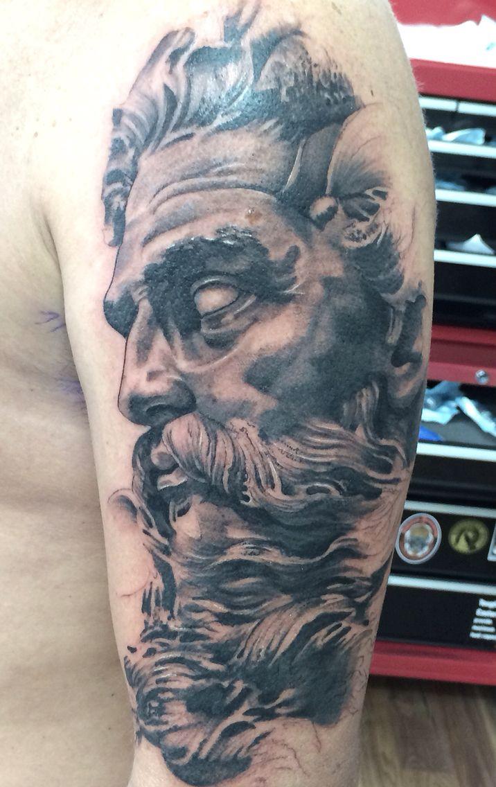 Greek tattoo sleeve tattoos and tattoos and body art on for Greek sculpture tattoo