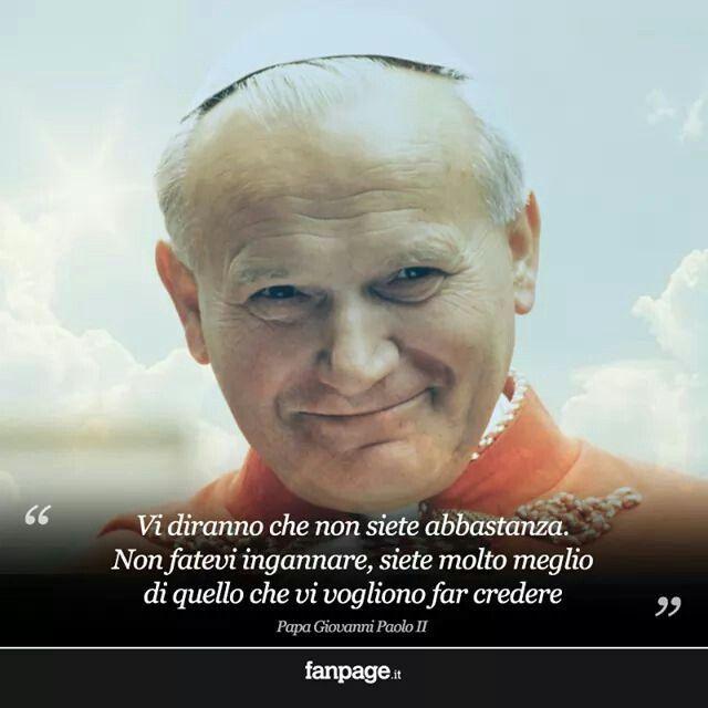Giovanni Paolo II: un uomo speciale che ancora oggi ci sostiene dal Cielo con l'esempio di vita che ci ha lasciato.