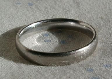 What Is White Gold?: This is a white gold ring. White gold consists of gold with one or more silver metals, usually silver, but sometimes palladium, platinum or nickel. White gold is plated with rhodium to give it its shiny appearanc.