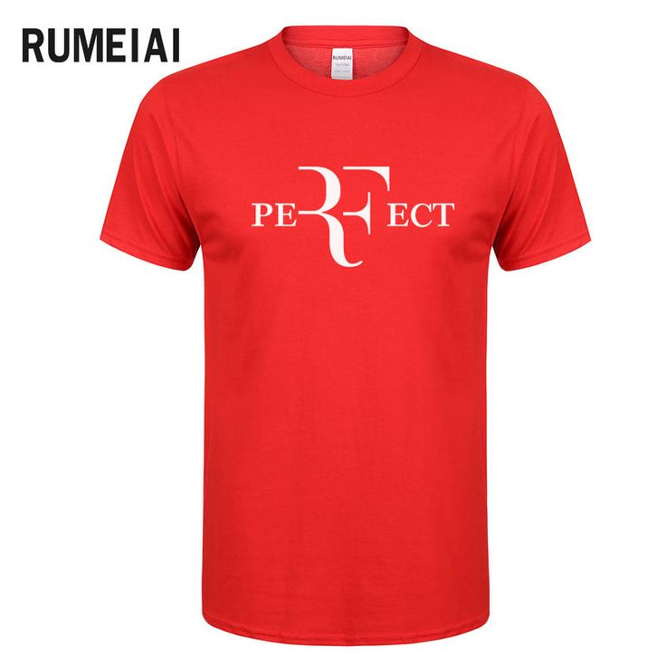 >> Click to Buy << RUMEIAI 2017 Roger Federer RF Men T Shirts Cotton O Neck Short Sleeves casual T shirts American Apparel Mens Shirt Wholesale Top #Affiliate