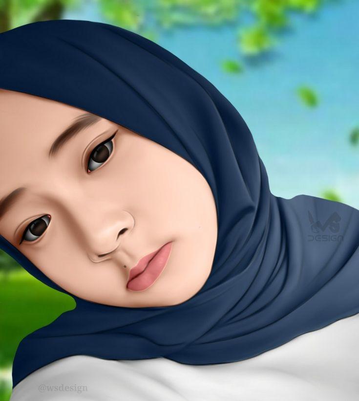Smudge Painting Nissa Sabyan Created By Wsdesign Gambar Teman Gambar Jilbab Cantik