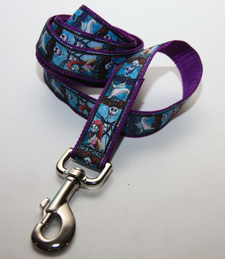 """Halloween Jack and Sally 1"""" Dog Leash. $18.00. Find Bonzai Gifts on facebook for more!"""