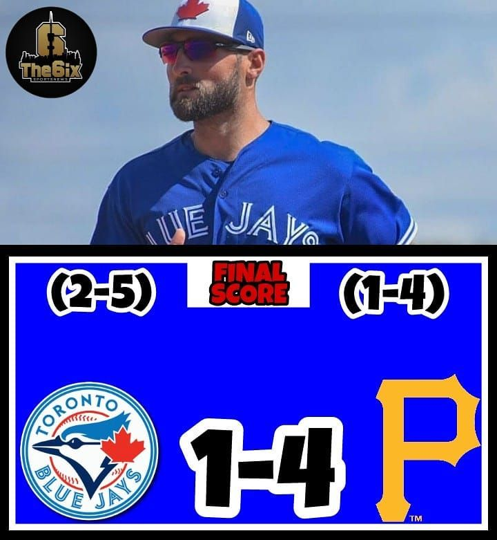 The Blue Jays drop a tough one to the Pittsburgh Pirates 4-1 in game 7 of Spring training. J.A. Happ got the start and recorded: 2.0IP 1H 1R 1ER. The only Blue Jays run came from Kevin Pillar hitting a RBI single. Next Up for the Blue Jays is the Minnesota Twins tomorrow. . . . . #bluejays #toronto #cometogether #6ix #tdot #mlb #baseball #jays #ourmoment #torontobluejays #beisbol #homerun #baseballlife #baseballislife #baseballgame #dodgers #baseballseason #pitcher #ballpark #sports #mets…