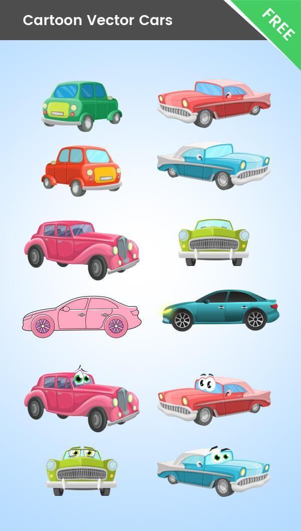 Cartoon Cars Vector Mega Collection Illyustracii Raboty Avtomobil