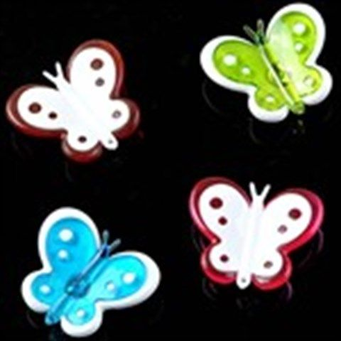 4 x Plastic Mini Ultra Strong Colorful Cute Refrigerator Magnet Series Note Memo Paper Photo Sticker Butterfly Design