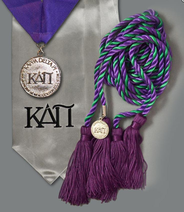 KDP GRADUATION PACKAGE! Exclusively through the KDP Store, our graduation package includes the KDP medallion and ribbon, honor stole, and honor cords with charm.