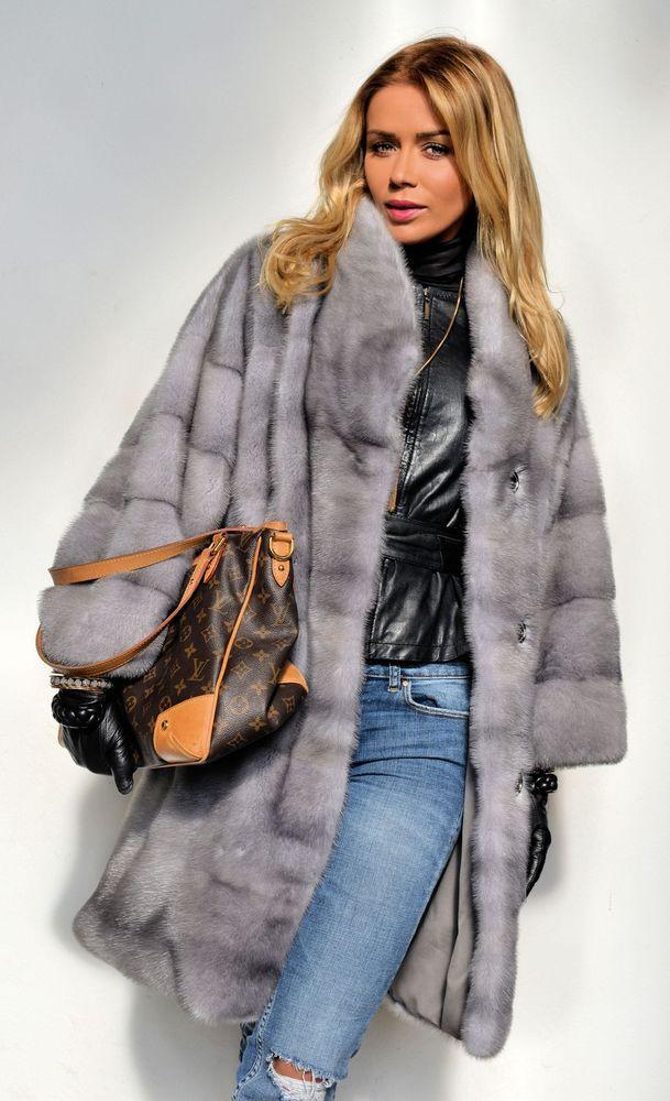 New 2016 milano sapphire royal saga mink fur coat class of jacket  chinchilla fox
