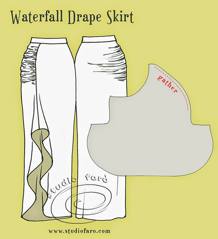 A #DrapePattern with all the moving parts! well-suited: #PatternPuzzle-Waterfall Drape Skirt