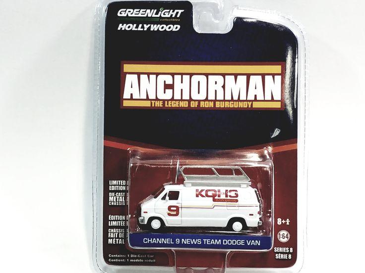 Greenlight Anchorman Chanel 9 News Team Dodge Van Hollywood (8)1/64 Diecast Car