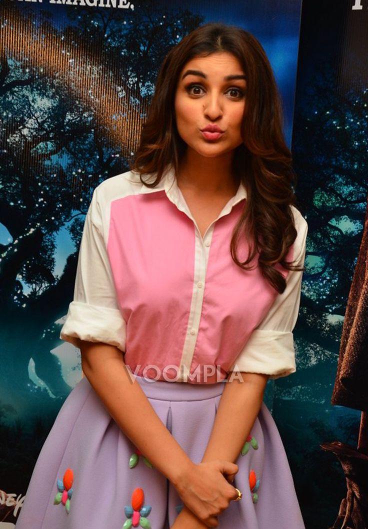 So pretty! Parineeti Chopra pouts to perfection. via Voompla.com