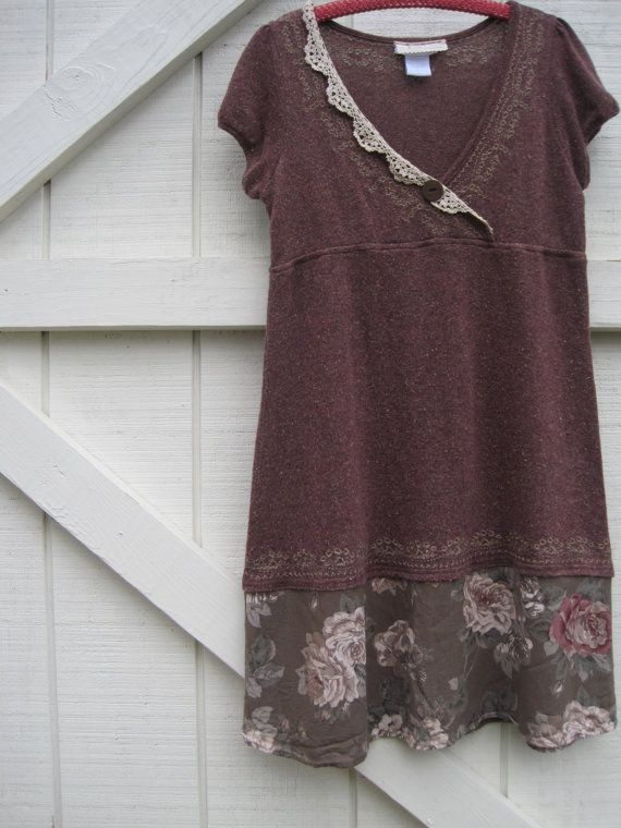 Rustic dress boho dress Boho chic dress baby doll by ShabyVintage, $45.90