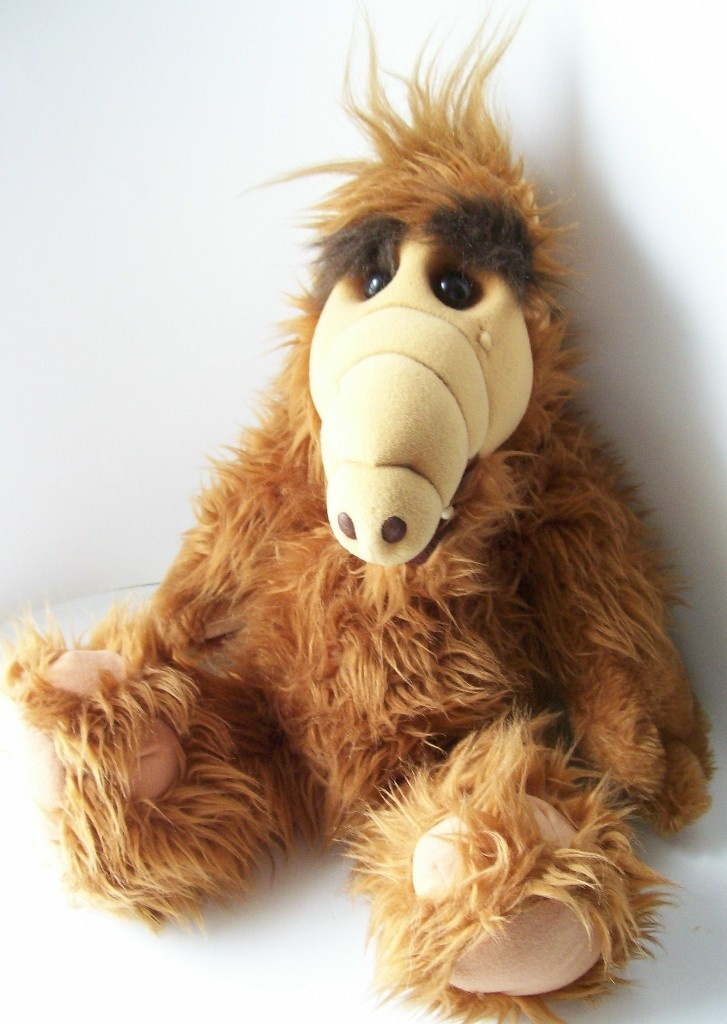 1986 Plush ALF Doll. I had one of these LOL! Quite possibly the ugliest toy of the 80's, but I loved him. :) Watched the tv show all the time.