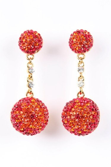 Sunset Crystal Ball Earrings