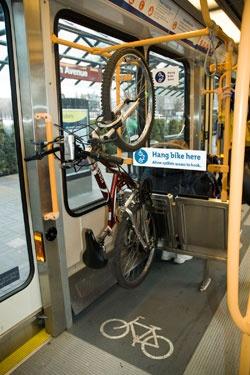 In-Car bike rack on TriMet (Portland OR)