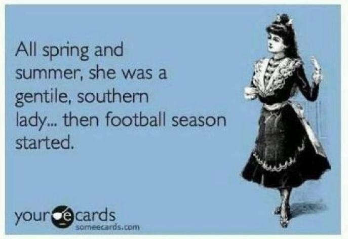 LOVE this. Although, we maintain that we are respectable ladies during football season too - just, a little more vocal about supporting 'our boys'...click to be taken to The Gameday Girls' website.