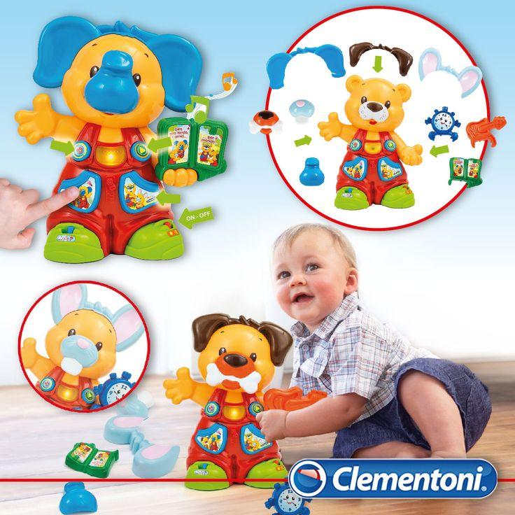 Tommy l'Orsetto Trasformabile racconta Storie. Grazie alle sue trasformazioni insegnerà ai vostri bimbi parole, numeri e versi degli animali sviluppando manualità e creatività #giocattoli #giochi #interattivi per la #primainfanzia by #clementoni #clementonibaby #babyclementoni #giochibambini #toys #baby #babytoys