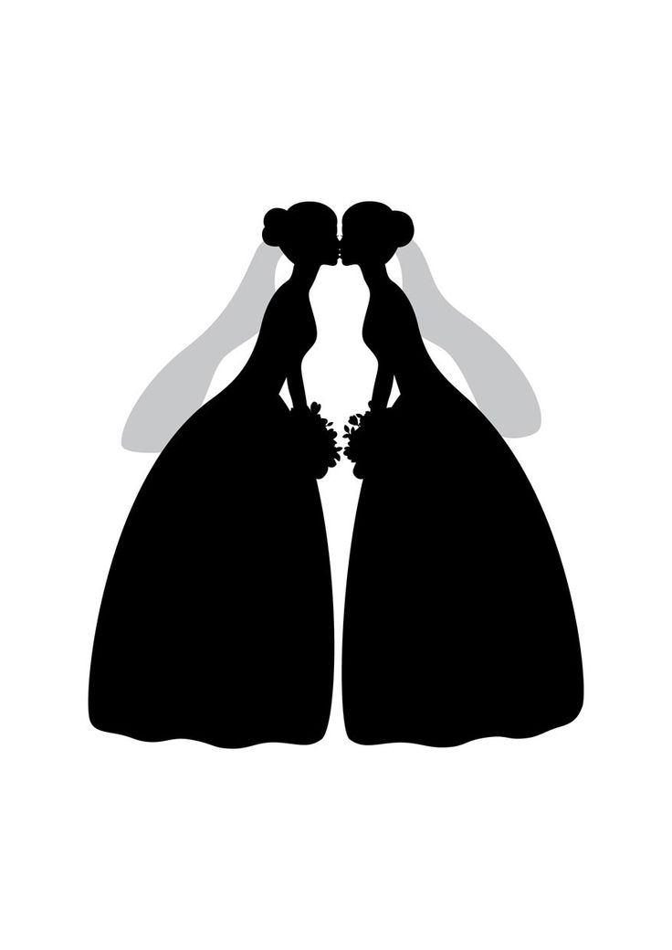 This is another favourite of ours at Compatible Cards. There is something so stunning and beautiful about a silhouette and these two brides show it off in the best way. For a couple who's love is like a fairytale, this card will show their happy ending that is sealed with a kiss.