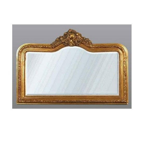 Gold French-style overmantle mirror | Industrial style accessories