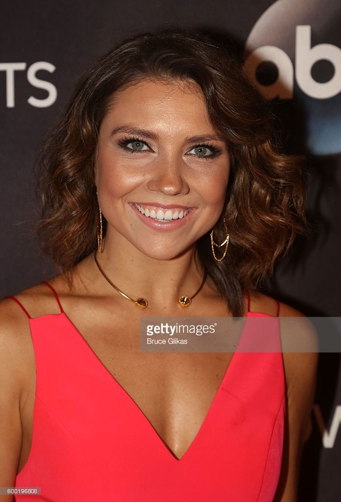Jenna Johnson poses as Season 23 of 'Dancing With The Stars' meets the press at Planet Hollywood Times Square on September 7, 2016 in New York City. .