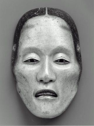 No mask of the Yase-onna type  能面 痩女  Japanese, Edo period, 18th century, Japanese cypress, MFA