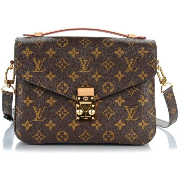 LOUIS VUITTON Monogram Pochette Metis ❤ liked on Polyvore featuring bags, flap lock bags, monogrammed bags, monogrammed messenger bags, locking courier bag and louis vuitton bags