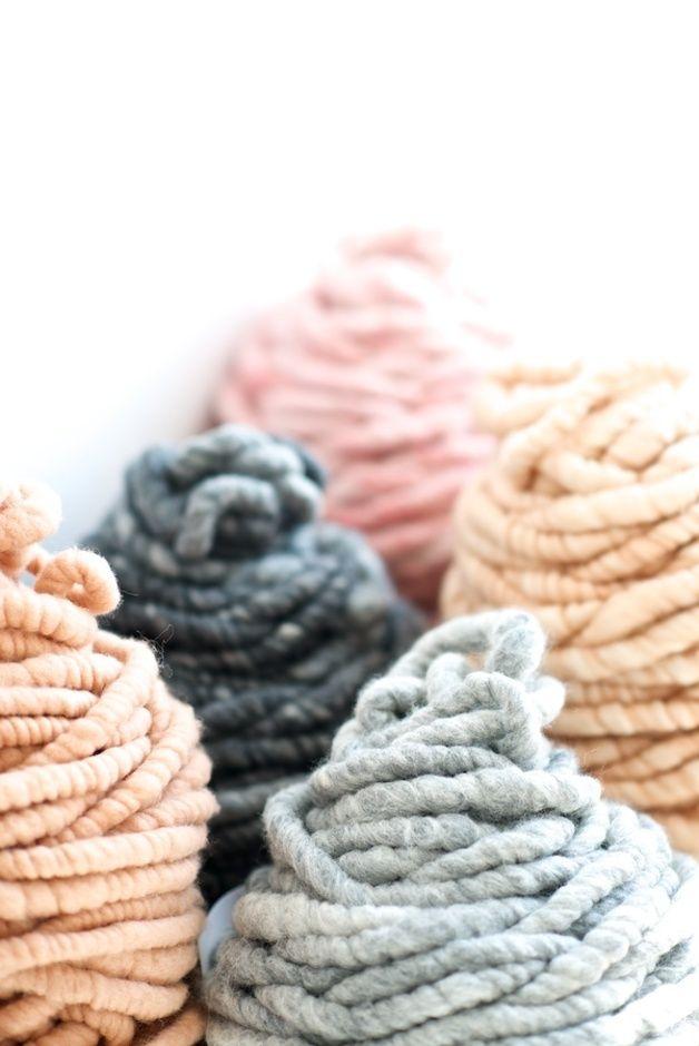 Big Loop Garn, Wolle / big loop yarn, wool, for knitting diy projects by lebenslustiger via DaWanda.com