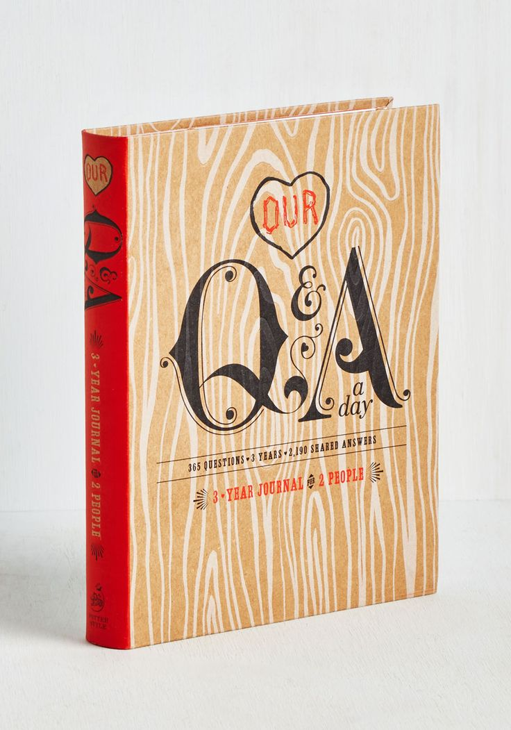 Our Q&A a Day 3 Year Journal - Valentine's, Good, Under $20, Top Rated, Gifts2015, Wedding, Bride, Unisex Gifts, Under 25 Gifts, Unique Gifts