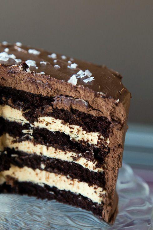 Chokladtårta extra allt – aka Chokladtårta med Dulce de Leche och marängsmörkräm