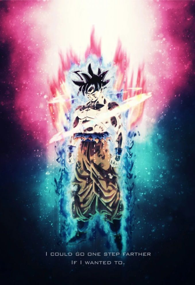 Son Goku Tagline Poster Print By Gab Fernando Displate Poster Prints Print Artist Cool Artwork