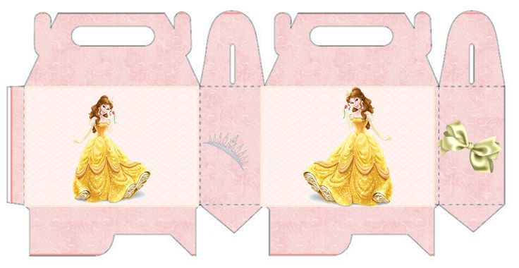 Belle Free Printable Lunch Box for your Beauty and the Beast Party.