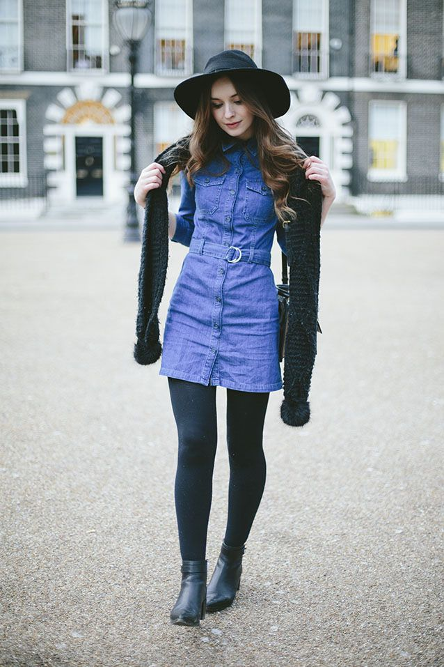 1000  ideas about Denim Dress Outfits on Pinterest  Jeans dress ...