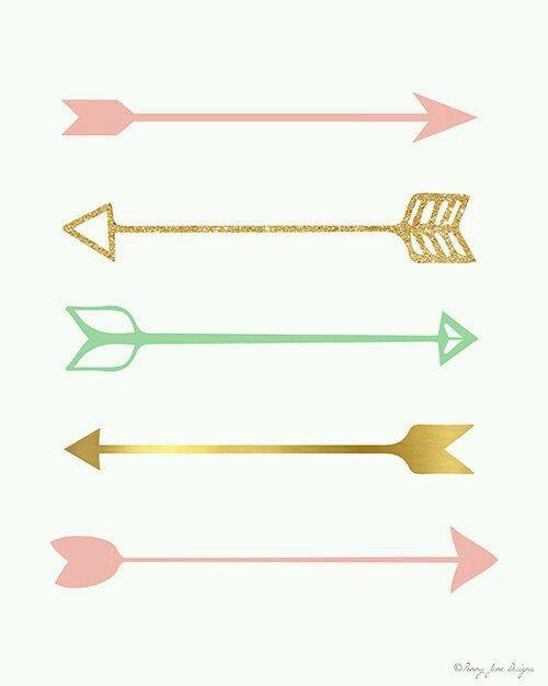 arrow gold pink